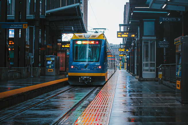 St. Paul Minnesota light rail