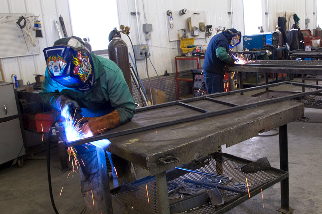 Men welding in Renton, Washington