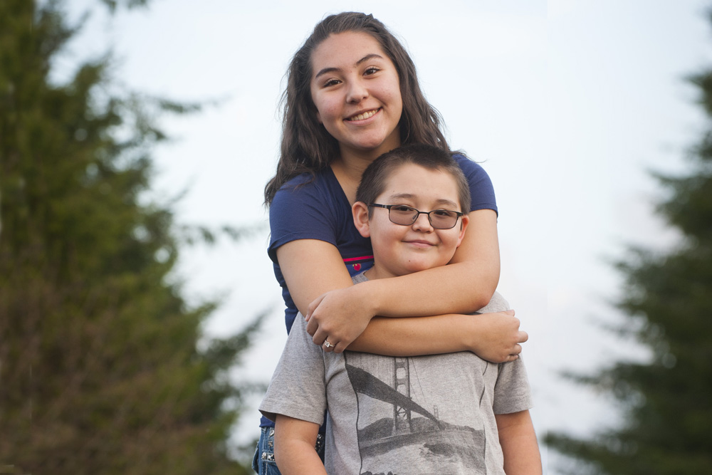 Ruby Pope, Taala Fund grantee, and her brother
