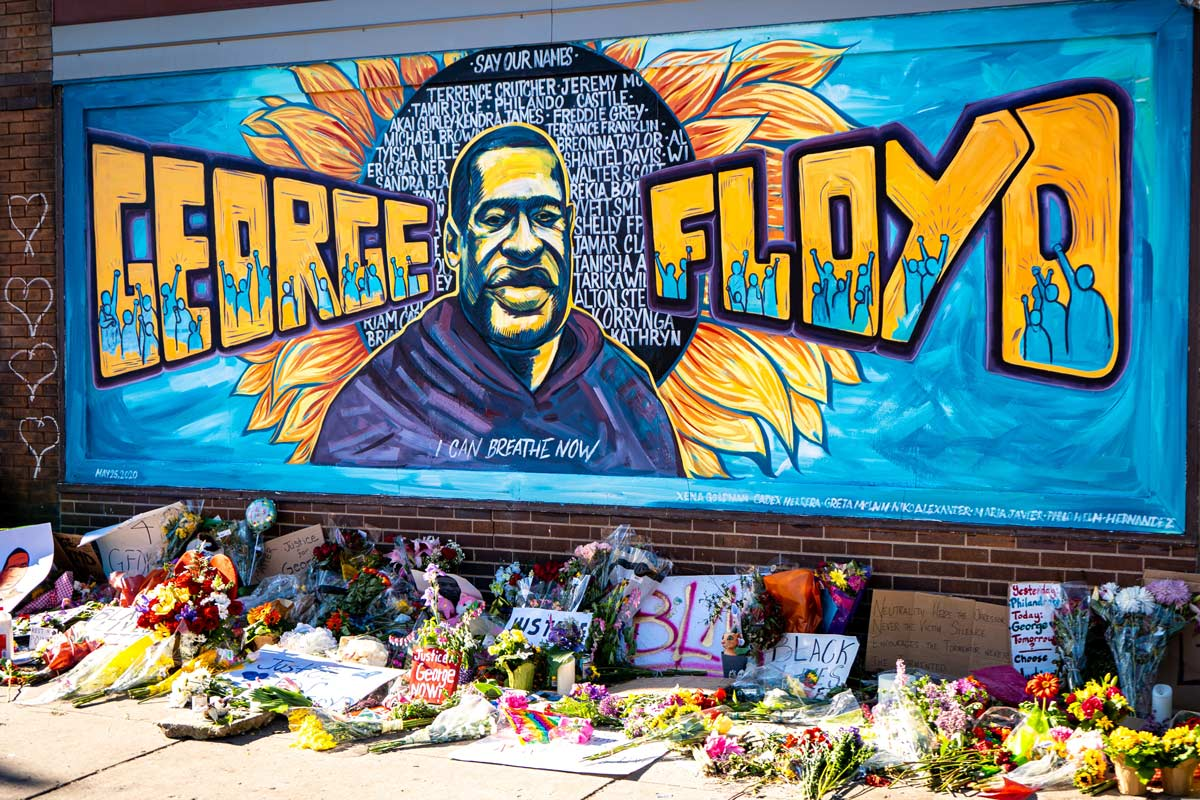George Floyd mural on Cup Foods