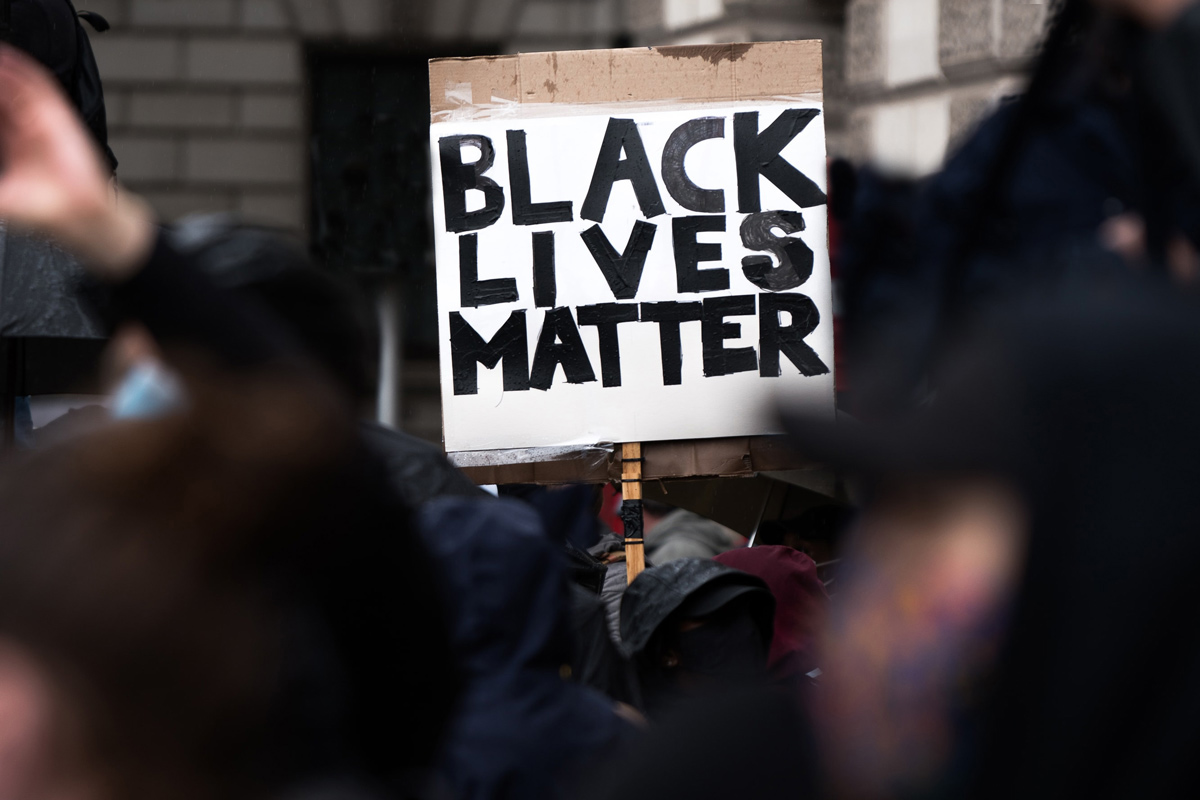 Black Lives Matter sign, photo by James Eades